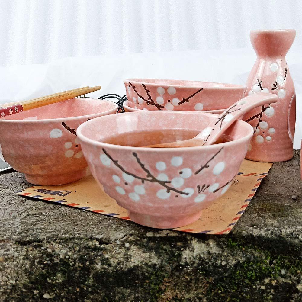 Red Japanese Red Ceramic Bowls Set of 4