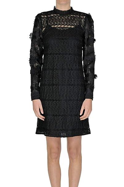 MICHAEL BY MICHAEL KORS Vestito Donna MCGLVS004189I Poliestere Nero  Amazon. it  Abbigliamento 311ecd2260d