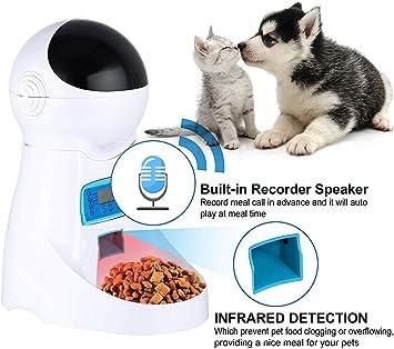 Sailnovo EU Comederos automáticos de Mascotas para Perros y Gatos ...