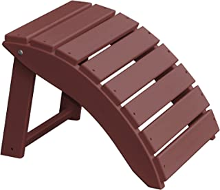 product image for Furniture Barn USA Poly Folding Round Ottoman Footrest - Cherry Wood