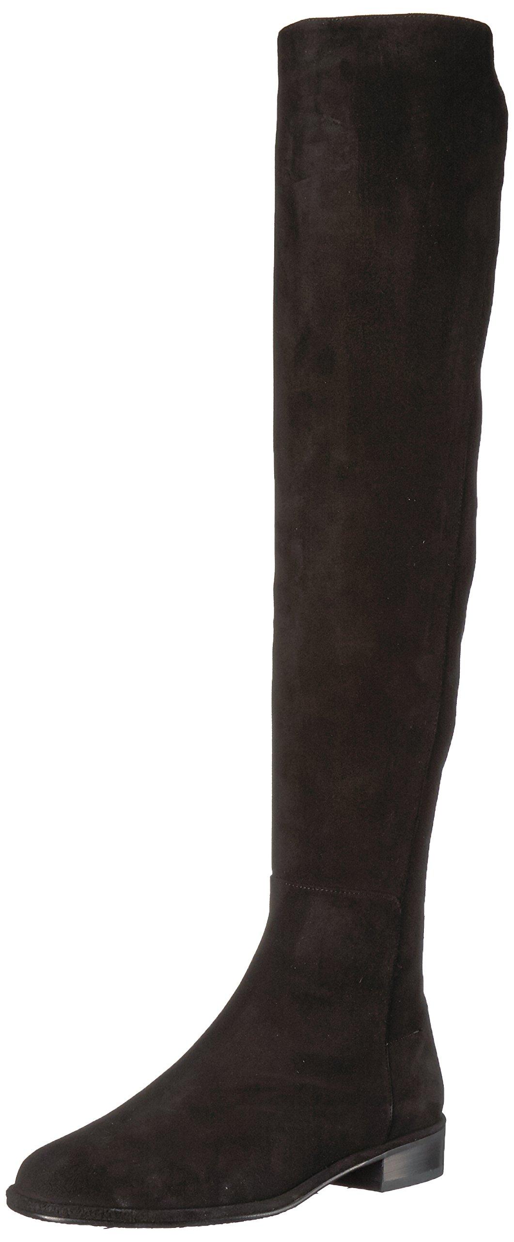Stuart Weitzman Women's Allgood Knee High Boot, Black Suede, 9 Medium US