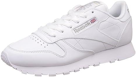 Reebok Cl Lthr - Zapatillas para mujer, Blanco, 35 EU / 2.5 UK /