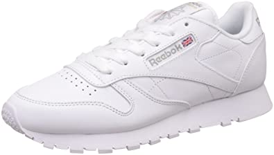 Reebok Classic Leather, Women's Low Top Sneakers, White (Int White),