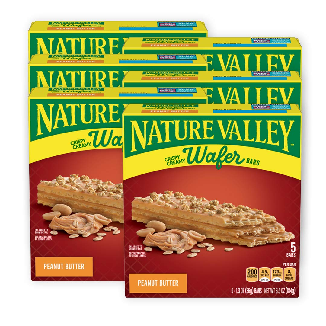 Nature Valley Crispy Creamy Wafer Bars, Peanut Butter, 30 Bars