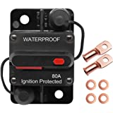 Erayco 80 Amp Circuit Breaker with Manual Reset for Car Marine Trolling Motors Boat ATV Manual Power Protect for Audio System