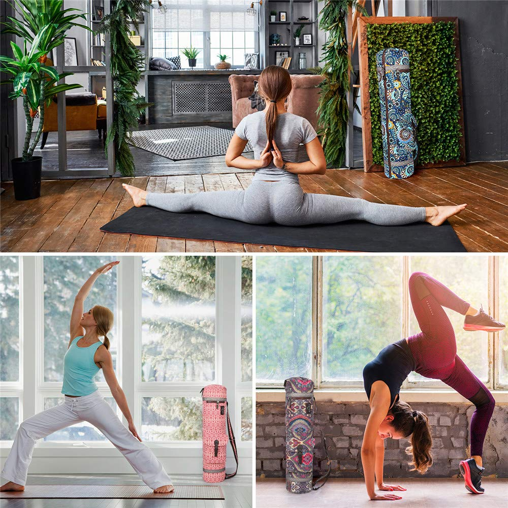 Amazon.com: Anleobag - Bolsa de yoga + correa de yoga ...