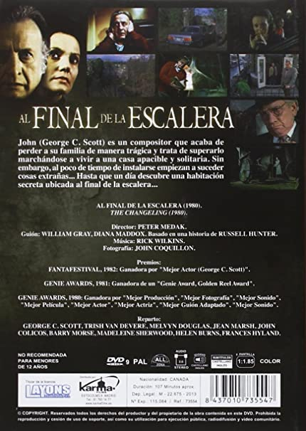 Al final de la escalera [DVD]: Amazon.es: George C Scott, Trish Van Devere, Melvyn Douglas, John Colicos, Jean Marsh, Barry Morse, Madeleine Thornton-Sherwood, Helen Burns, Ruth Springford, Peter Medak, George C Scott,