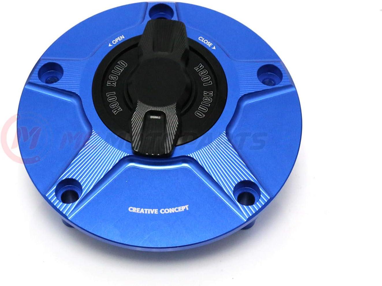 MC Motoparts NIMBLE Rapid Quick Lock Fuel Gas Cap For Yamaha YZF R1 1998-2019 08 09 10 11 12 13 14 15 16 17 Blue Black