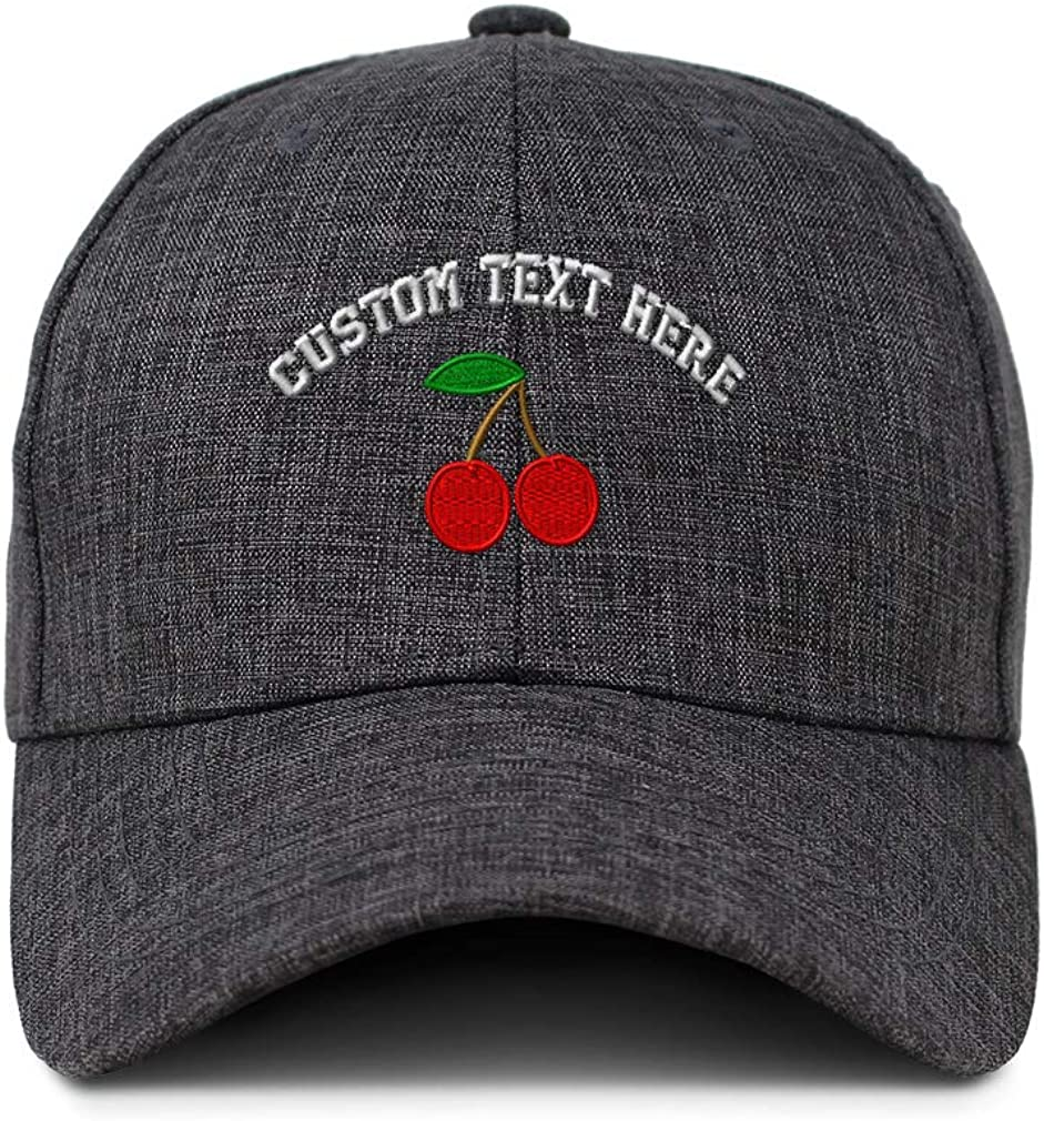 Custom Baseball Cap Cherry Embroidery Acrylic Casual Hats for Men /& Women