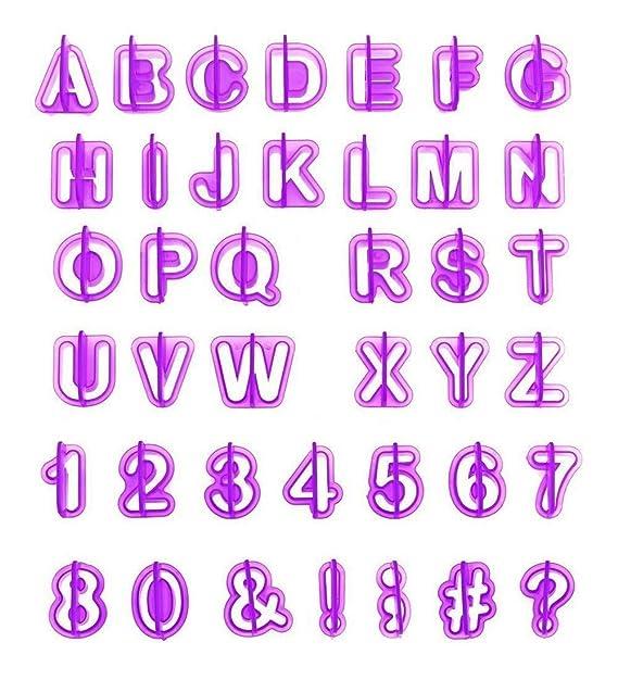 rxnon Moldes Decoración para tartas Alfabeto Letras Cortadores Números con una Animales Moldes, 40 piezas: Amazon.es: Hogar
