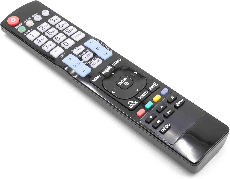 vhbw Mando a Distancia para LG 42LD550, 42LD630, 42LE5300, 42LE5350, 42LE5500, 42LE7300, 42PJ350, 46LD550 Repuesto para TV, Television: Amazon.es: Electrónica