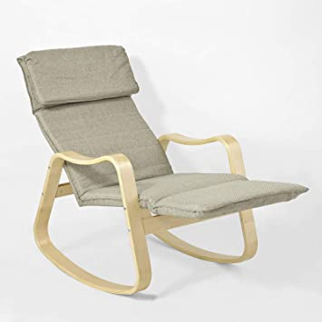 Sobuy Fst37 Br Ultra Large Rocking Chair Fauteuil A Bascule