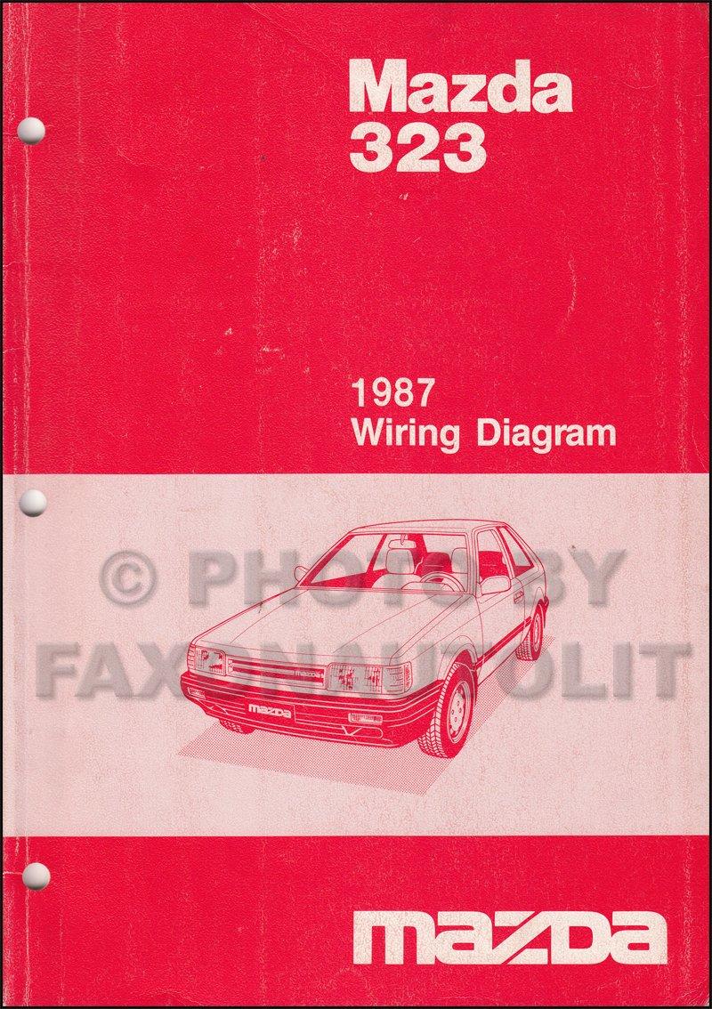 1987 Mazda 323 Sedan and Hatchback Wiring Diagram Manual Original: Mazda:  Amazon.com: Books