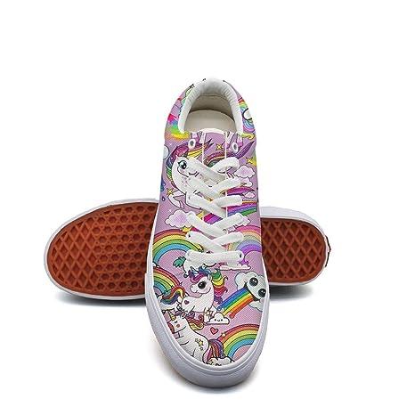 371da0bc4e834 Amazon.com: Landsr cartoon happy animal unicorn Men's Canvas Shoes ...