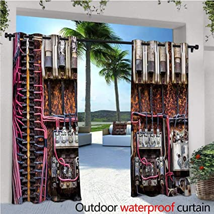 Marvelous Amazon Com Cobedecor Wire Exterior Outside Curtains Old Download Free Architecture Designs Sospemadebymaigaardcom