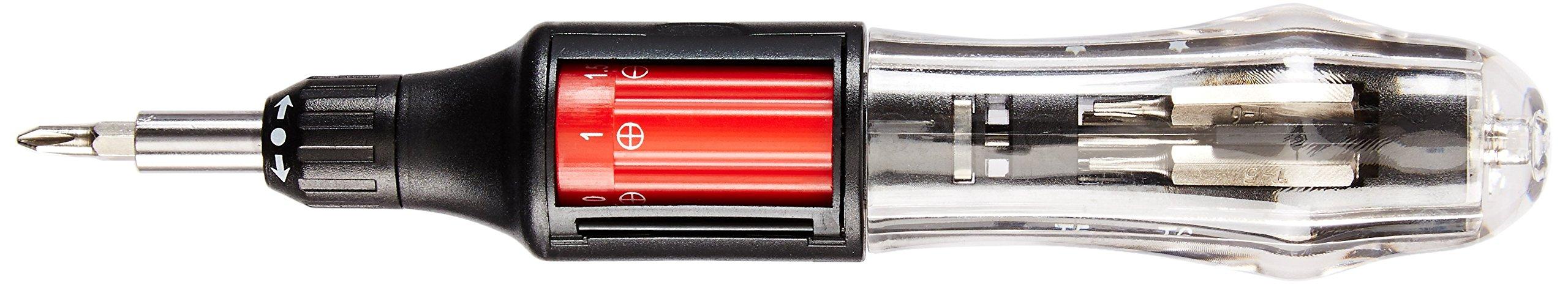 Neiko 01336A 10 in 1 Autoloading Heavy Duty Precision Screwdriver   Phillips, Flathead, Star   3-Way Gearless Ratchet