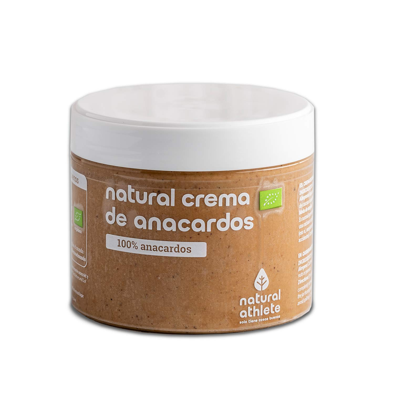 Crema de Anacardos BIO -Natural Athlete- 100% solo Anacardos - 100% natural y orgánico- sin azúcar añadido - sin gluten - sin lactosa.300 gr