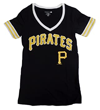 new concept a3e63 f0fdc Pittsburgh Pirates Women's S/S V-Neck Baby Jersey