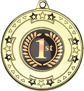 Tri Star Médaille (1in Centre)–Doré 2en