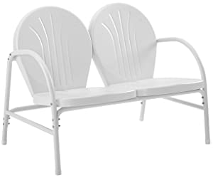 Crosley Furniture Griffith Metal Outdoor Loveseat - White