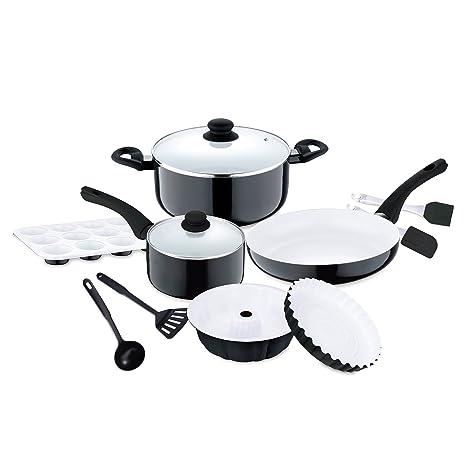 Renberg Manhattan Batería de Cocina de 12 Piezas, diámetros ...