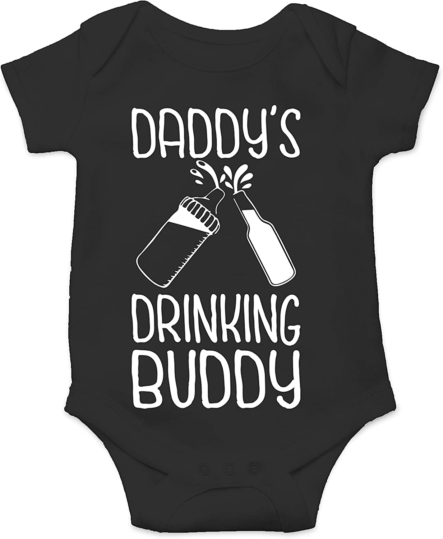 Funny Baby Onesie Daddy/'s Drinking BuddyMommy/'s Drinking Buddy Onesie