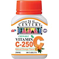 21ST Century Vitamin C 250mg, Orange Chewable, 100ct