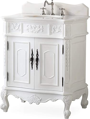 30.75 Unique Classic Ellenton Bathroom Sink Vanity Model HF080W-AW