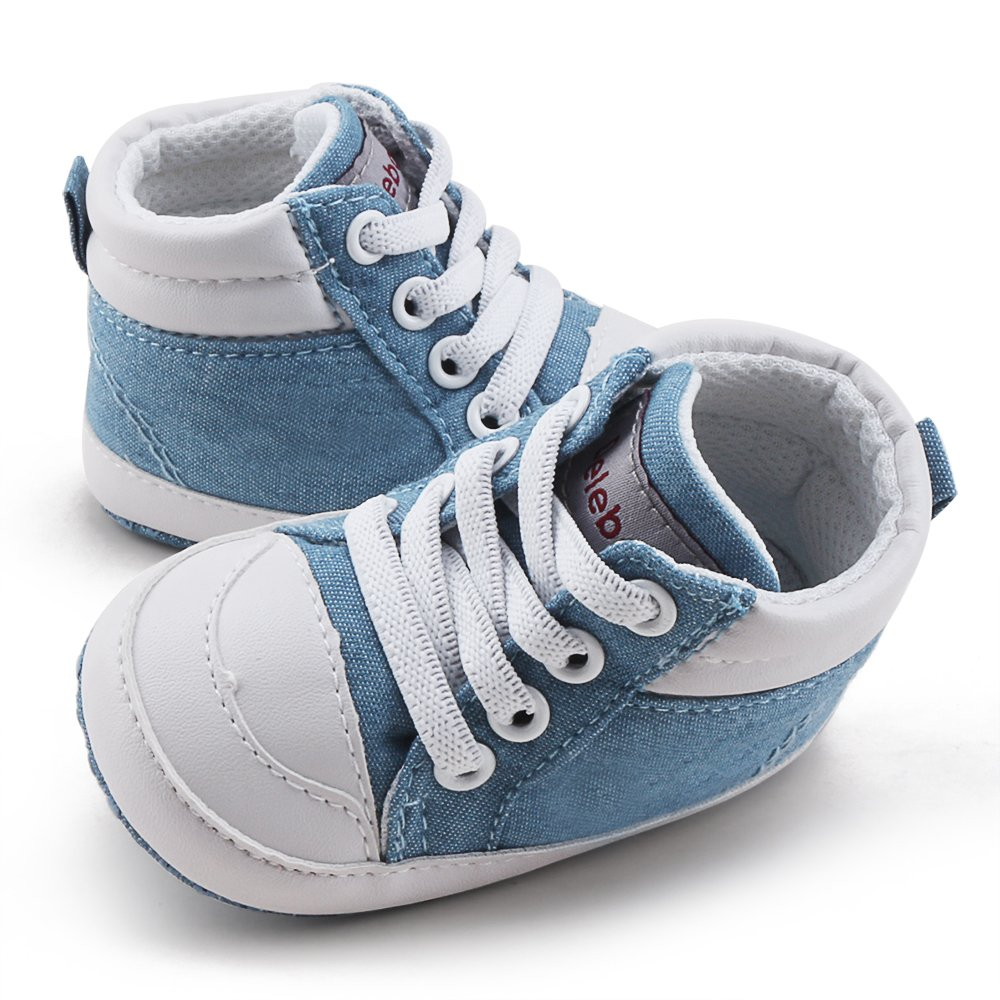 DELEBAO Chaussures B/éb/é en Cuir Souple Chaussons B/éb/é Chaussures Premiers Pas Chaussure de Marche Bebe Bottine B/éb/é