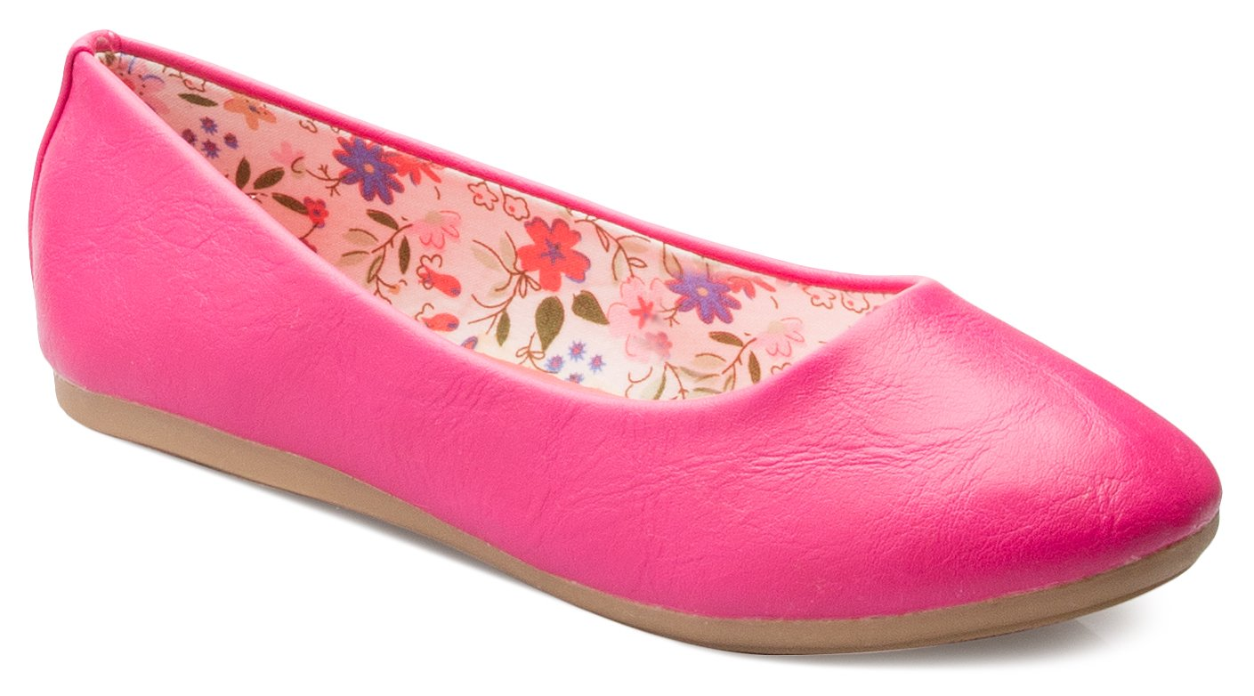 OLIVIA K Girls Classic Ballet Flat Shoes - Adorable Round Toe- Easy On Off and Comfortable