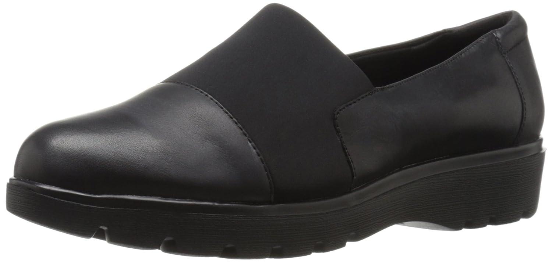 Amazon.com | Easy Spirit Women's Oreen Slip-on Loafer, Black/Black Leather,  5 M US | Loafers & Slip-Ons