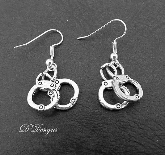 Handcuff Earrings Sterling Silver Hooks