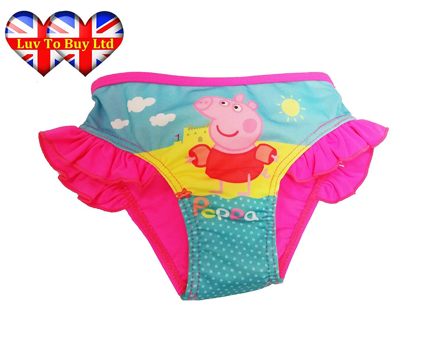Peppa Pig Girls Bikini, girls swimsuit, Girls Bikini Bottoms (Same Day Dispatch) Luv To Buy 74864