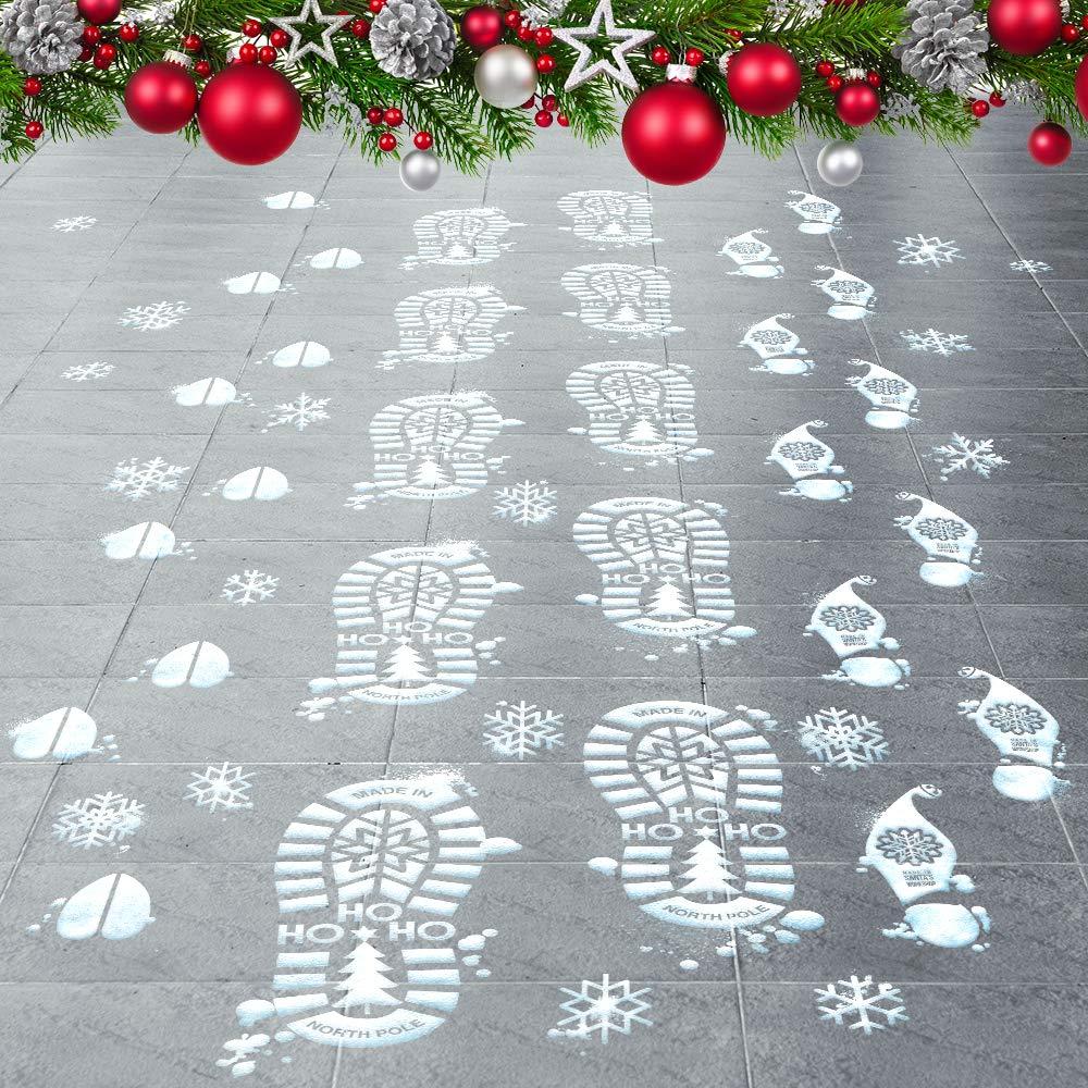 Colonel Pickles Novelties Santa Footprints 90 Ct Footprint Floor Stickers Kit Reindeer Elf