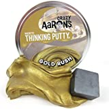 """Magnetic Crazy Aaron's Thinking Putty Gold Rush with Magnet Large """"4tin"""