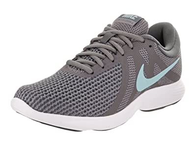 Nike Women's Revolution 4 Gunsmoke/Ocean Bliss Dark Grey Running Shoe 8 Women Us
