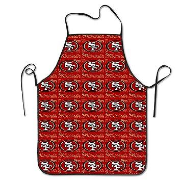 Marrytiny Kitchen Chef Apron San Francisco 49ers Football Team Apron Unisex  Kitchen Bib Cooking Women s Men s 0253a39beb