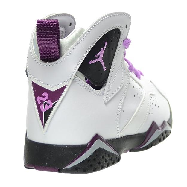 official photos 8af01 3930b Amazon.com  Jordan 7 Retro GP Little Kids Shoes WhiteFuchsia  GlowBlackMulberry 442961-127 (13.5 M US)  Basketball