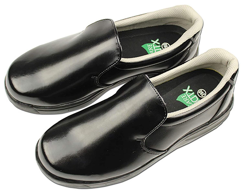 DDTX Chef Kitchen Work Shoes Unisex SRC Slip and Oil Resistant Lightweight Black 6-10.5US