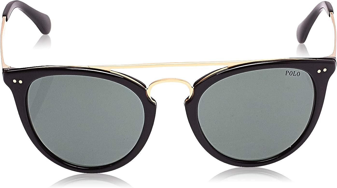 Ralph Lauren POLO 0PH4121 Gafas de sol, Shiny Black, 51 para ...