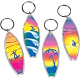 Fun Express - Assorted Surf Board Key Chains (1-Pack of 12)