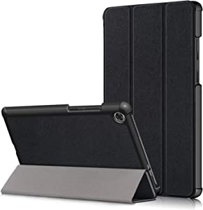 Epicgadget Case for Lenovo Tab M8 TB-8505, Slim Lightweight Trifold Shell Stand Cover Case for Lenovo Tablet M8 8 Inch Display 2019 Released (Black)