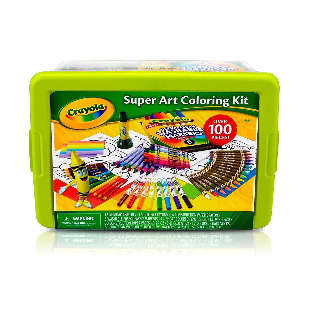 Amazon.com: Crayola Super Art Coloring Kit - Green or Yellow: Toys ...