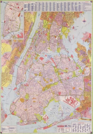 Amazoncom Vintage 1964 Map of Street map New York City Long