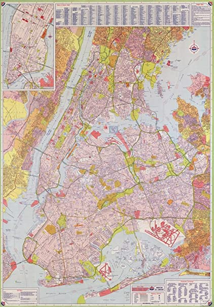 Amazon Com Vintage 1964 Map Of Street Map New York City Long