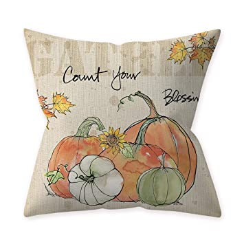 Halloween Pillow Covers 17.72 // 17.72=45cm //45cm, P Decorative Pumpkin Throw Pillow Case Fall Pillowcases Sofa Cushion Cover Clearance Sale