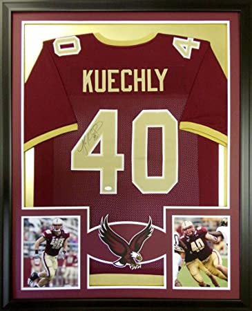 340496783 Luke Kuechly Framed Jersey Signed JSA COA Autographed Boston College BC  Panthers