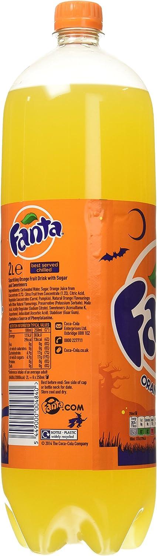 Fanta - Zero Naranja, Refresco con gas, 2 l (Pack de 6 ...