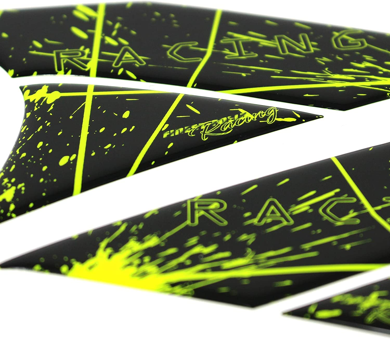 3D fluorescente Paraserbatoio laterale adesivo in gel per la protezione della verniciatura del serbatoio della moto universale