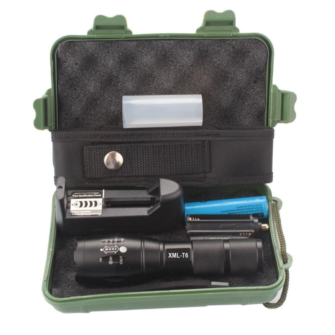 LED Flashlight,IEason Mini 3500LM Zoomable CREE Q5 LED Flashlight 3 Mode Torch Super Bright Light Lamp (C)